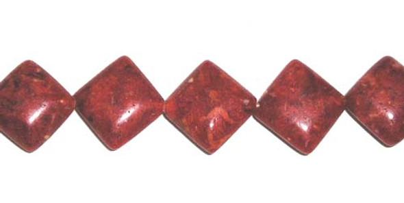 12x12mm 28 Beads Sponge Coral Puffed Diamond Beads