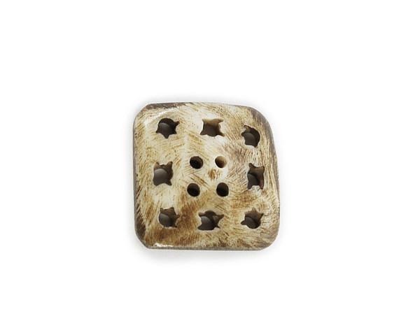 25x25mm Carved bone square pendant