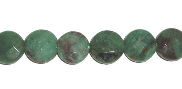 12mm 34 Beads Australian Dragon Blood Jasper Faceted Coin Beads