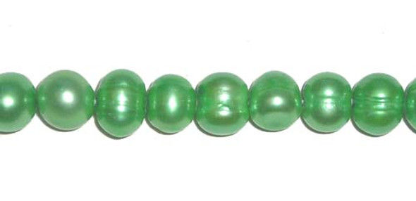 6.5 -7mm Green-colored potato pearls