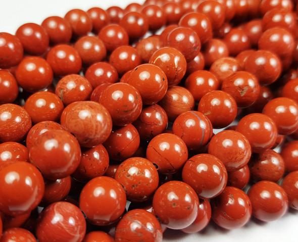 8mm Red Jasper Round Beads