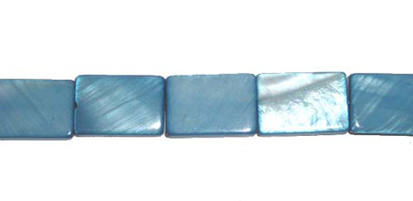 10x14mm About 25 Beads Mother Of Pearl Cadet Blue Rectangle Beads