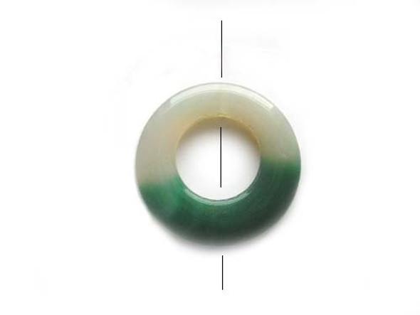 Green/White Donut Pendant 48mm Agate Donut Pendant