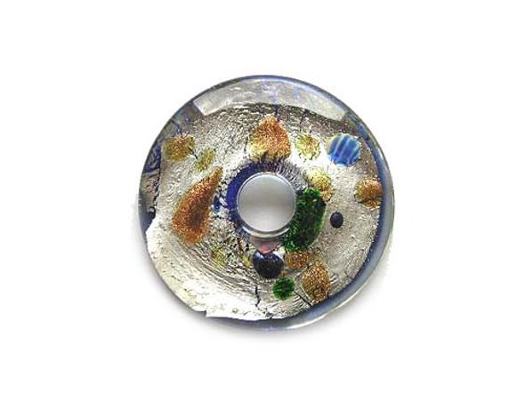 43mm Murano style donut pendant