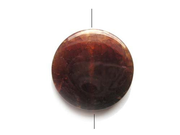 Dyed Agate Round Pendant 39mm Reddish Brown Agate Round Pendant