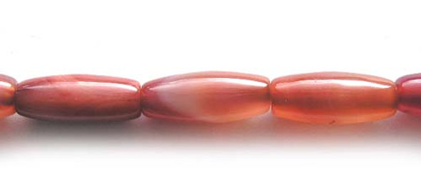 9x23mm  Pinkish red  dyed agate tube beads