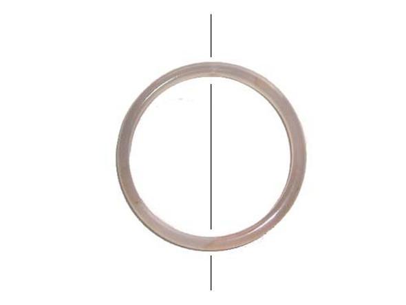 50mm White Agate Circle Pendant