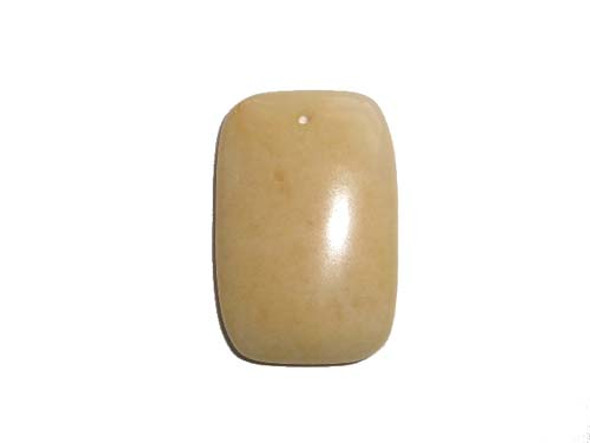 30x45mm Yellow Jade Puffed Rectangle Pendant