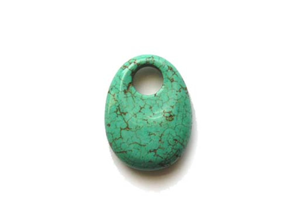 30x40mm Turquoise Blue Howlite Oval Pendant