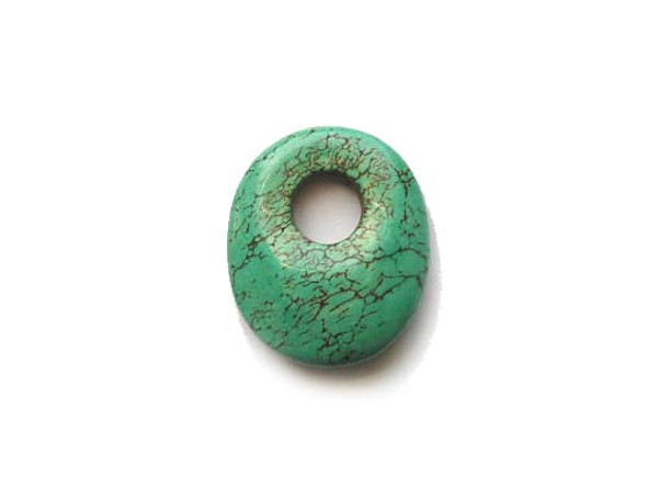 25x30mm Turquoise Blue Howlite Oval Pendant