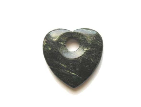 50x50mm Peacock jade heart pendant