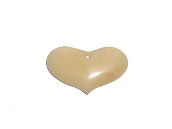 27x43mm Yellow jade heart pendant
