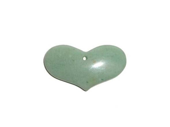 27x43mm Green aventurine heart pendant