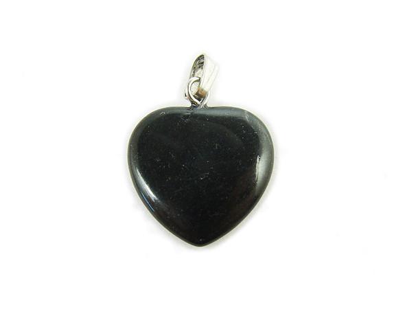 25x25mm  pack of 3 pendants Black stone heart pendant