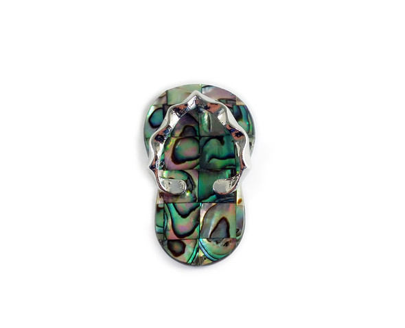 23x40mm Abalone mosaic slipper pendant