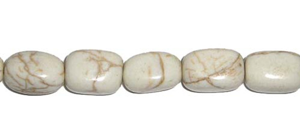 10x14mm About 29 Beads White Howlite Nugget Beads