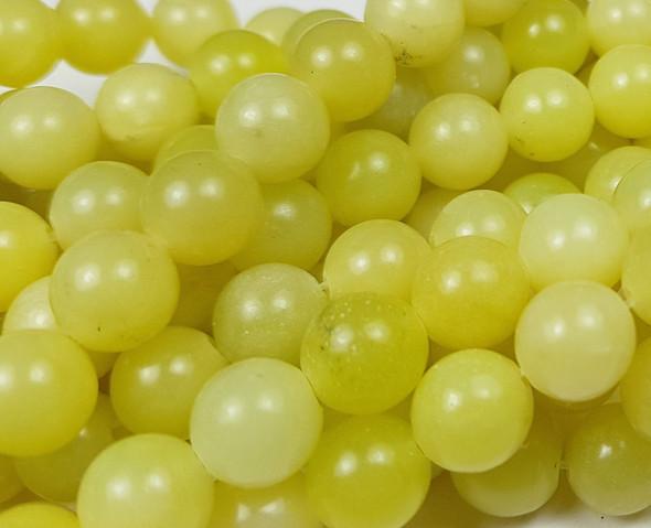 4mm Olive Jade Round Beads