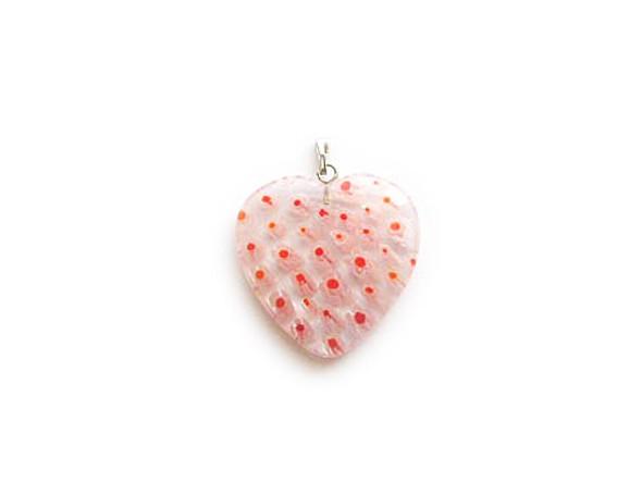 30x30mm  pink Millefiori heart pendant