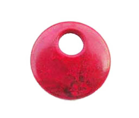 45x9mm Red Howlite Round Pendant