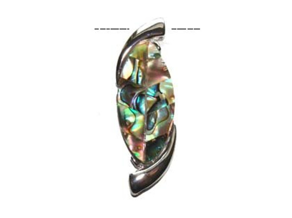 17x54mm Abalone Shell S-Shaped Pendant
