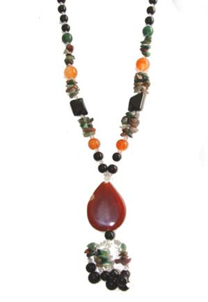 about 28 inches long  agate teardrop pendant Fashion necklace