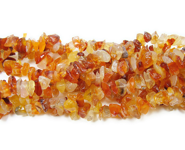 4x7mm  34 inches Carnelian chips