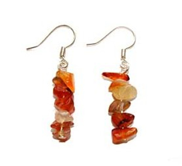 1 3/4 inches long  pack of 5 pairs Carnelian earrings