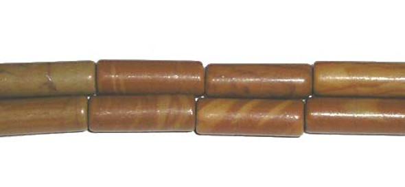 4x12mm Scene jasper tube beads