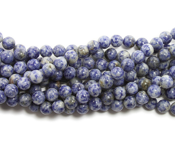 8mm Denim lapis round beads