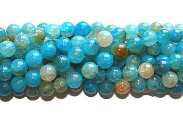 12mm Approx. 31 Beads Aqua Agate Round Beads