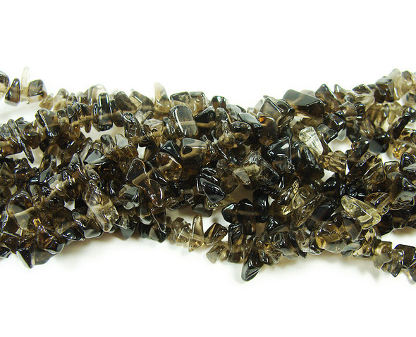 3x8mm  34 inches Smoky quartz chips