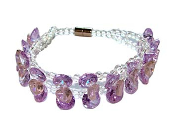 7 inches CZ purple fashion bracelet