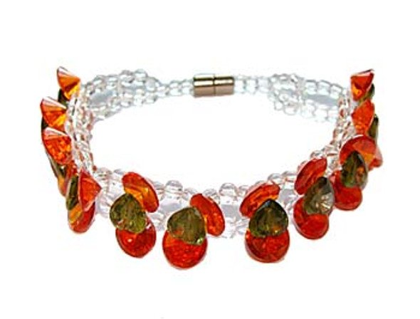 7 inches CZ red fashion bracelet
