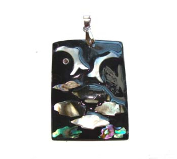 35x45mm Fashion shell rectangle pendant