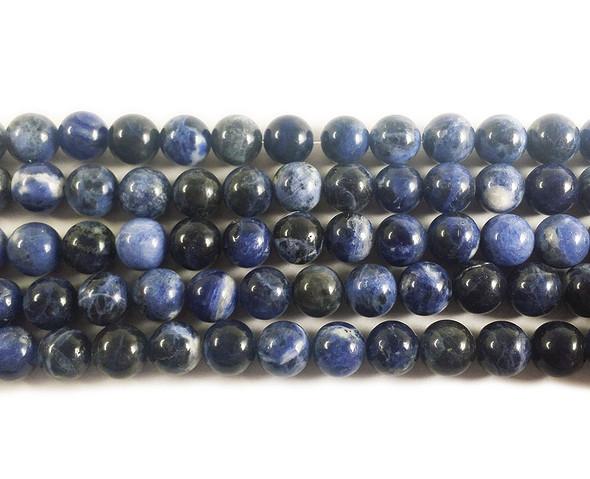 6mm Sodalite round beads
