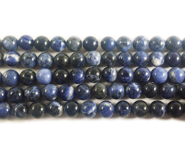 4mm Sodalite Round Beads