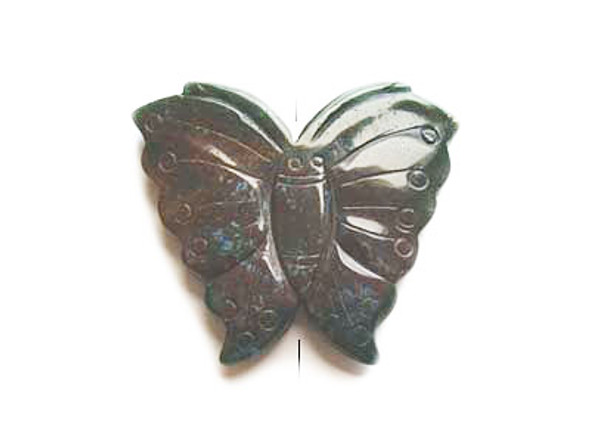 55x70mm Indian Agate Butterfly Pendant