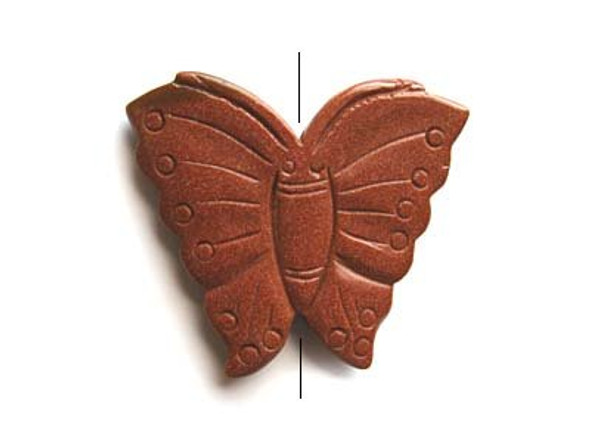 55x70mm Goldstone butterfly pendant