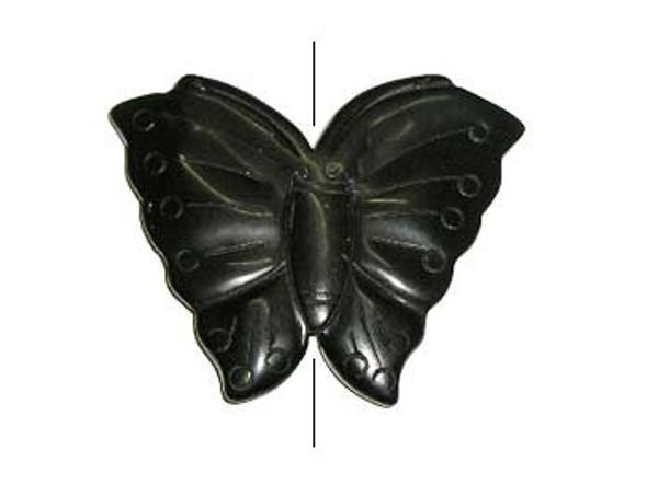 55x70mm Black Onyx Butterfly Pendant