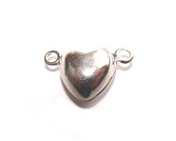 9x9mm Pack Of 4 Clasps Heart-Shaped Magnetic Clasps
