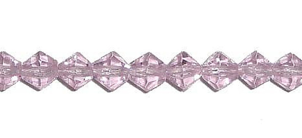 "4mm 12.5"" Pink Price For 5 Sts Glass Faceted Bicone Beads"