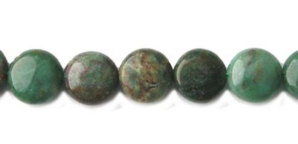 16mm 25 Beads Australian Dragon Blood Jasper Coin Beads