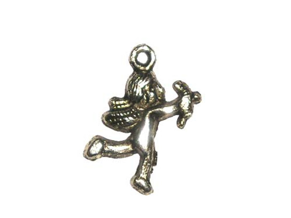 18x23mm  pack of 6 Bali style pewter charms