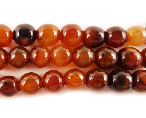 14x15mm Dream Agate Barrel Beads