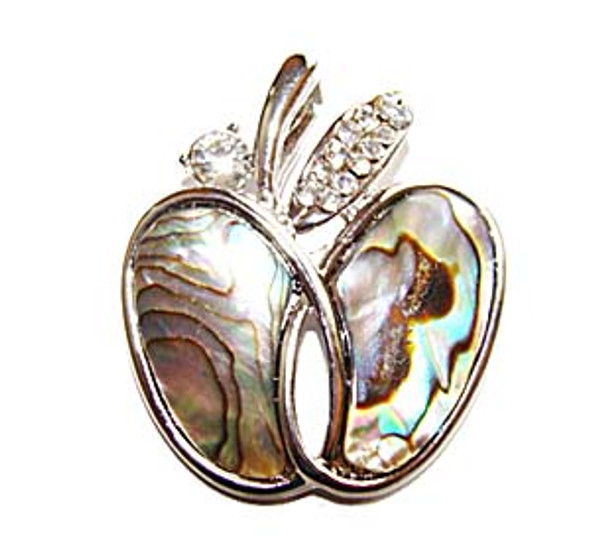 30mm Abalone Shell Apple Pendant
