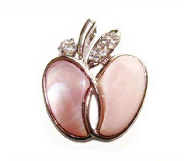 30mm Pink shell apple pendant