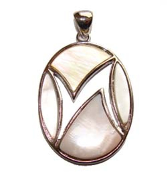 30x40mm Assorted Shell Oval Pendant
