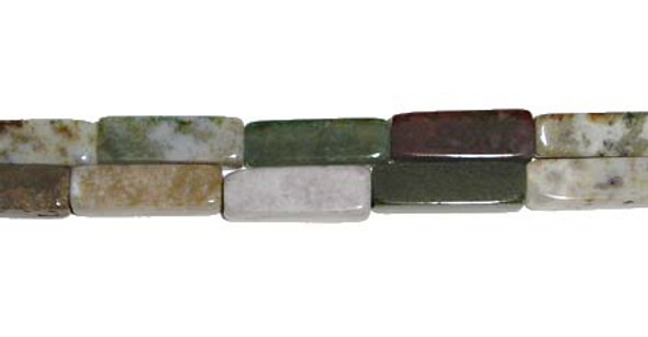 4x13mm Indian agate long cube beads