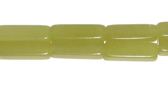 4x13mm Olive Jade Long Cube Beads