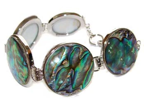 7.5 - 8 inches  round Abalone shell fashion bracelet